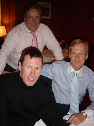 Colin McRae, Robert Armour and Ari Vatanen in a meeting with Scottish Conservatives in Perth, spring 2007.